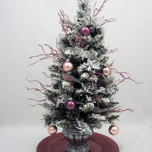Upscale White Flocked Tabletop Christmas Tree