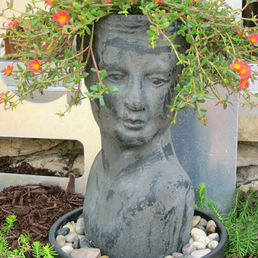 Summer Annuals, Human Head Planter, Face Planter, Portulaca